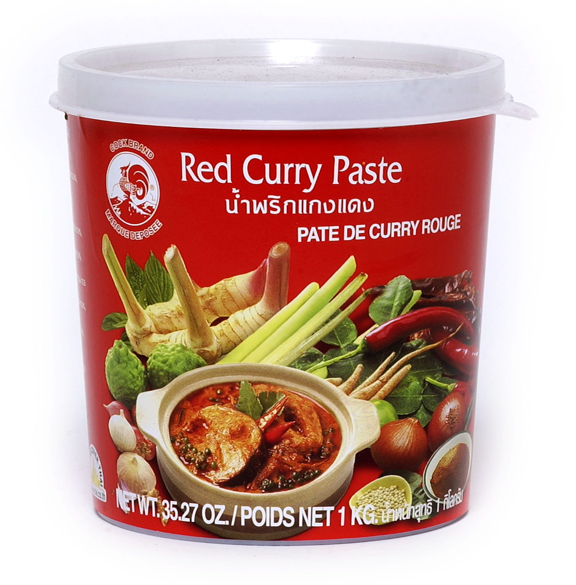 RED CURRY PASTE - Czerwona pasta curry 400gms AMG Retail Sp. z o.o